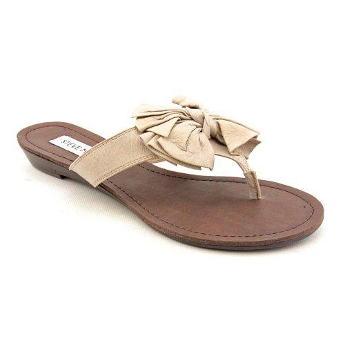 Steve Madden P-Dorra Open Toe Dress Sandals Shoes Beige Womens