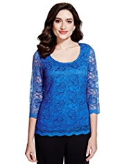 Per Una Corded Floral Lace Top
