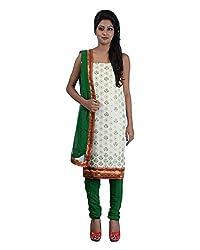 Mumtaz Sons Women's Cotton Unstitched Dress Material (MS111458C,Green)