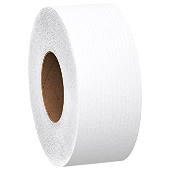 Scott 1000 Jumbo Roll JR. Commercial Toilet Paper (07805), 2-PLY, White, 12 Rolls / Case, 1000' / Roll