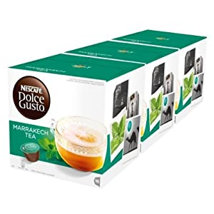 Get 2 XNescafé Dolce Gusto Marrakesh Style Tea, Greentea with Peppermint, 3 x 16 Capsules by Nescafé Dolce Gusto