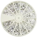 Nail Art MoYou Silver Moon Rhinestone Pack of 1200 Crystal Premium Quality Gemstones in 12 different shapes and sizes, beauty accessory for women nails, fun and easy to apply with top coat or nail glue