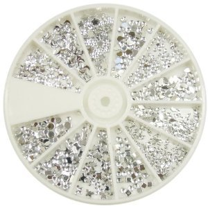 Nail Art MoYou Silver Moon Rhinestone Pack of