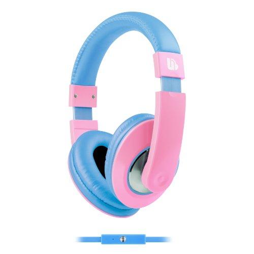 Urban Beatz Tempo Headphones With Mic - Pastel Light Pink/Blue Pink/Blue (Ub-Hm801-676)