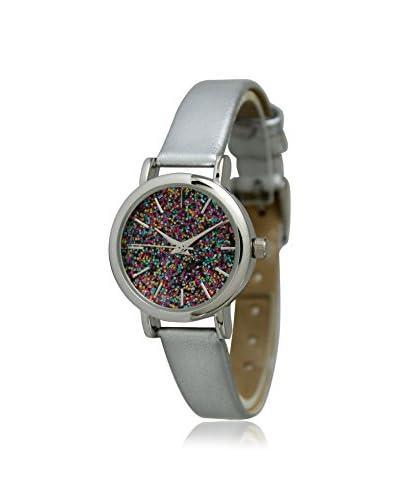 Olivia Pratt Women's 13326GL Confetti Silver/Glitter-Multi Leather Watch