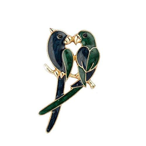 Eros Parrot Love Birds epossidico smalto spilla in lega accessori