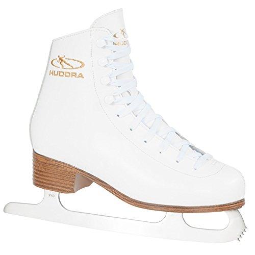 HUDORA Schlittschuhe Laura Gr. 42 weiß Eiskunstlauf Eislaufen Eis Eislauf Retro Schlittschuh