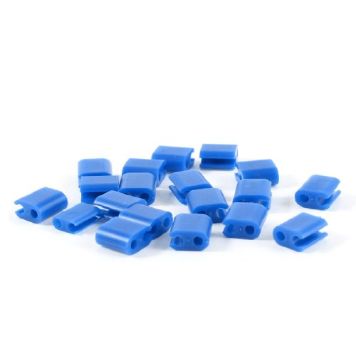 Blue Plastic 2Mm Headphone Earphone Wire Fixer Clips Holder 20 Pcs