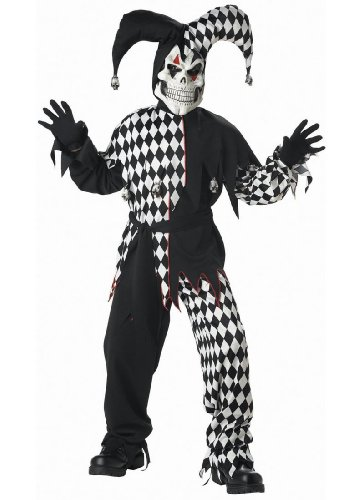 Child Black Evil Jester Costume