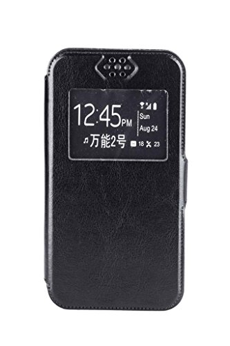 Noise-Spice Android One Universal Flip Cover (4-4.5 inch)-Black