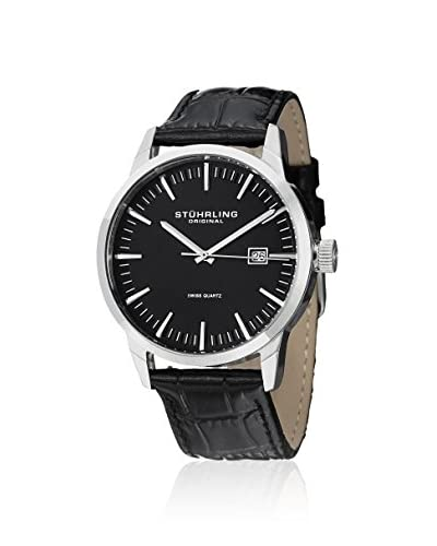 Stührling Original Men's 555.02 Ascot 42 Black Leather Watch