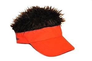 Flair Hair Original Visor - Red with Black Hair