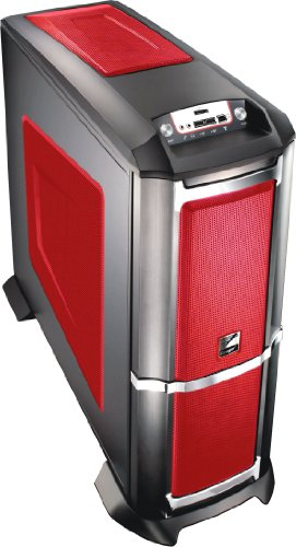 Compucase 6XR9 Xtreme Gamer Midi Tower (ATX/Micro ATX, Thermally Advantaged Design, Easy Detachable HDD Shockproof Trays) - Fiery Red