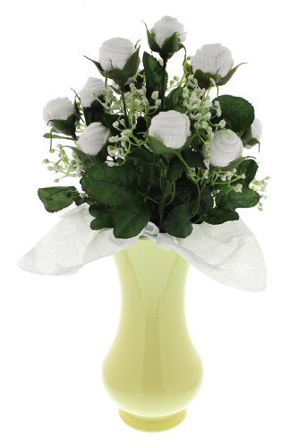 Neutral Small Bootie Bloom - White Socks - Yellow Vase