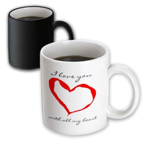 3Drose I Love You Heart Magic Transforming Mug, 11-Ounce