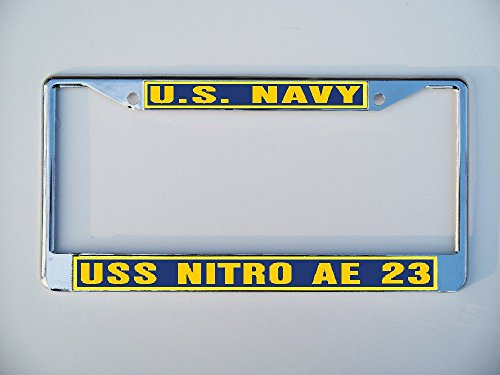 USS NITRO AE 23 License Plate Frame Metal or Plastic