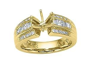 Karina B (tm) Princess Diamonds Engagement Ring in 18 kt Yellow Gold Size 6