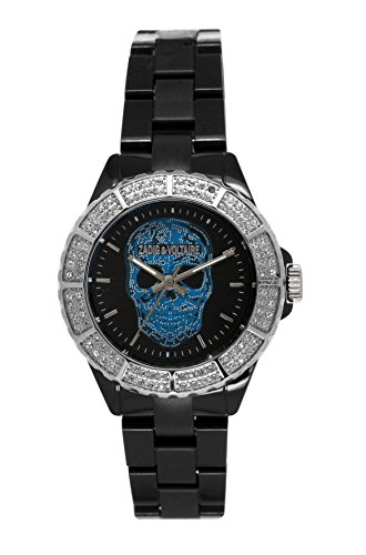 Zadig Voltaire ZV &071S/AA-New Art Shiny Women's Quartz Analogue Watch-Black Plastic Strap Black Dial