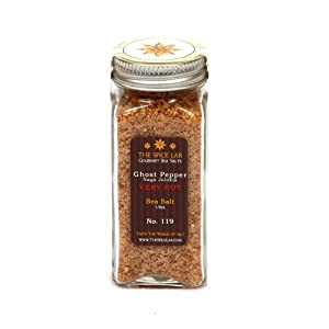 The Spice Lab Ghost Pepper Salt Naga Jolokia- Really Hot, 1-Count Packages (Pack of 4)