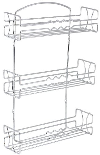 Decobros 3 Tier Wall Mounted Spice Rack Chrome Maryland