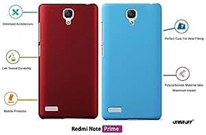 For Xiaomi Redmi Note Prime[COMBO OFFER]: Unistuff™ Matte Finish Hard Case Back Cover for Xiaomi Redmi Note Prime [SLIM FIT][FREE SHIPPING] (Red, Sky Blue)