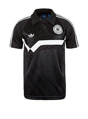 adidas Camiseta de Fútbol (Negro / Blanco)