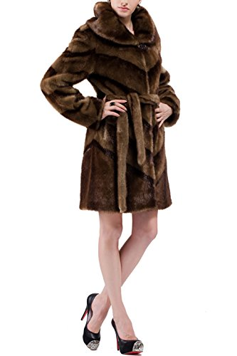 adelaqueen-women-brown-mink-faux-fur-coat-diagonal-pattern-with-matching-belt-size-xxl