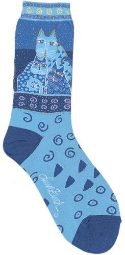 laurel-burch-womens-feline-crew-socks-blue-felines9-11