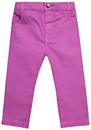 JoJo Maman Bebe Twill Slim Fit Jeans  (Baby)-Orchid-12-18 Months
