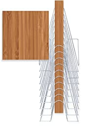 The Up Filer, Vertical Wall File in Caramel Bamboo, 10 Hangers/pockets. Allows for Letter/Legal/Oversized.