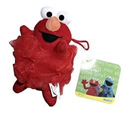 Evriholder Sesame Street Poofie Pals Elmo Mesh Sponge