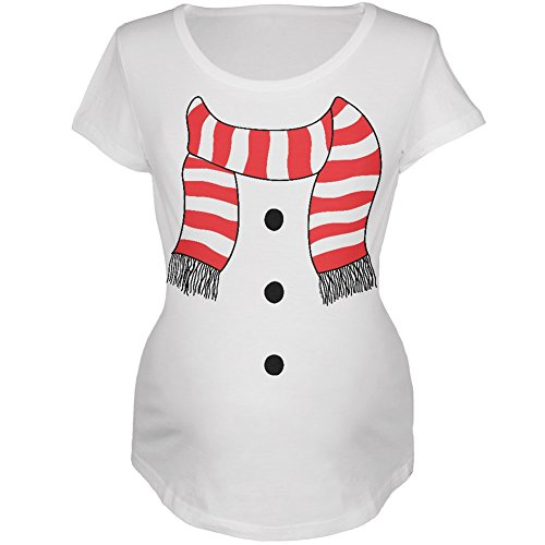 Halloween Snowman Suit Costume White Maternity Soft T-Shirt