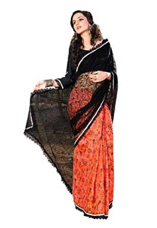 Fabdeal Women Net Embroidered Saree with Blouse Piece available at Amazon for Rs.1399