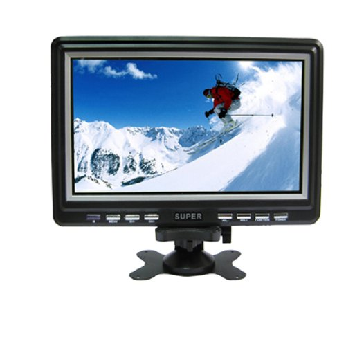 Diylooks Portable 9.8 Inch Wide Lcd Mini Monitor/Analog Tv With Fm Radio, Support Sd/Mmc Card/Usb Disk