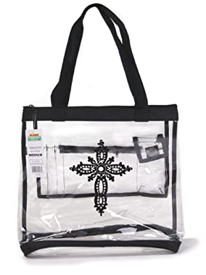 Clear Medium Tote Bag Cross