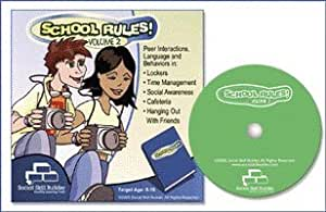 School Rules! CD-ROM Vol 2 Middle-High School Social Interpretation Skills, Organization, Listening Skills Ages 8-18