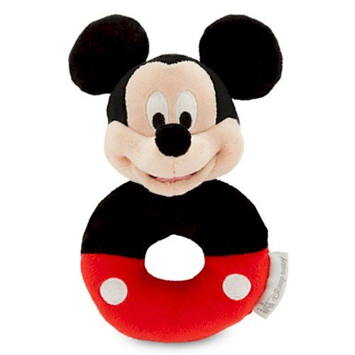 Disney Mickey Mouse Plush Rattle for Baby - 1