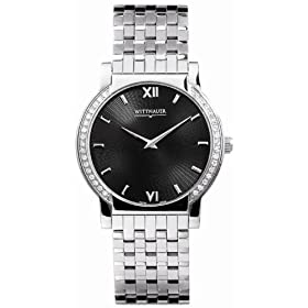 Wittnauer Orpheum Diamond Steel Black Mens Watch 10E06