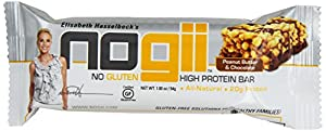 Nogii High Protein Bar No Gluten, Peanut Butter and Chocolate 12, 1.93 Ounce Bars Per Pack