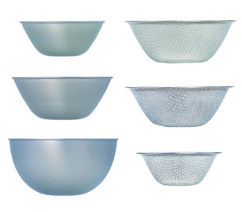Sori Yanagi stainless bowl punchingstrain er (16.19.23) 6pcs