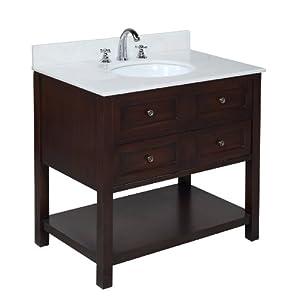 new yorker 36 inch bathroom vanity white chocolate