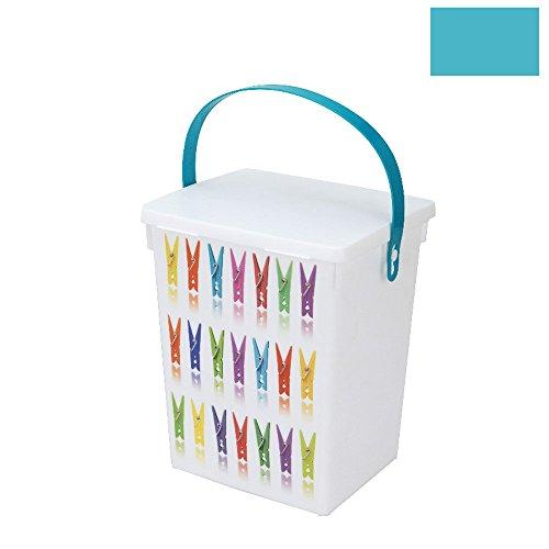 Boîte de rangement panier de support pour sac à pinces à linge à suspendre avec corde à linge & 20Pinces à linge