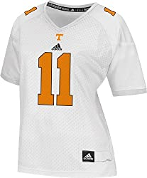 Tennessee Volunteers Women's Adidas # 11 White Football Jersey
