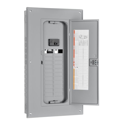 Square D By Schneider Electric Hom24M125C Homeline 125-Amp 24-Space 24-Circuit Indoor Main Breaker Load Center With Cover