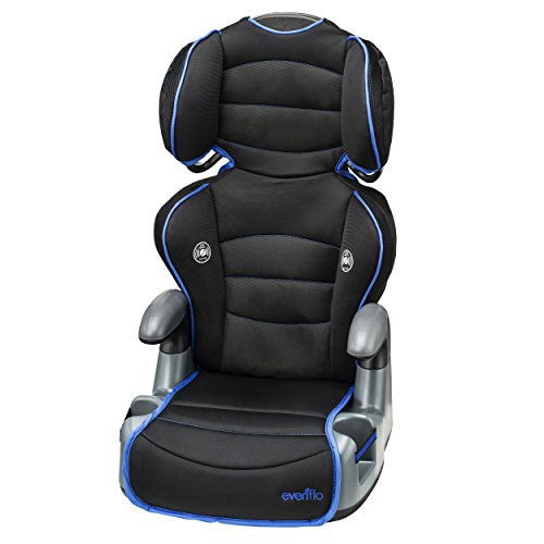 Cheapest Prices! Evenflo Big Kid High Back Booster Car Seat, Neon Ultramarine