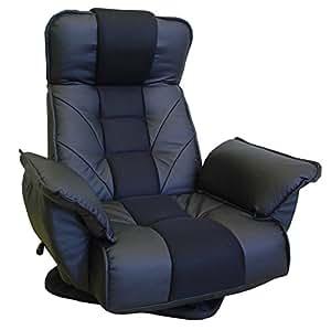 TVが見やすい レバー式 回転座椅子 ブラック FRL-アクロスBK