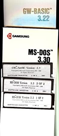 Samsung MS DOS Version 3.3 and GW BASIC 3.22