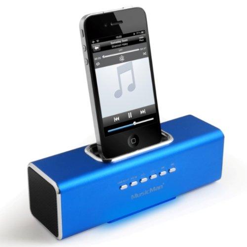 MusicMan-TXX3553-SoundstationStereo-Lautsprecher-mit-integriertem-Akku-MP3-Player-Micro-SD-Kartenslot-USB-Steckplatz-iPhoneiPod-Dock