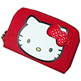 Sanrio Hello Kitty Red Zip Around Wallet- Red Polka Dot Bow, Polka Dot Design