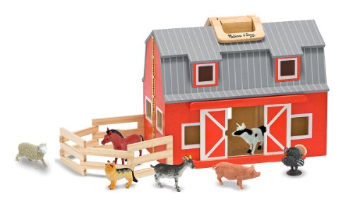 Melissa-Doug-Fold-and-Go-Wooden-Barn-With-7-Animal-Play-Figures